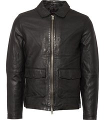 human scales black rolf leather jacket 173-102