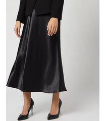 hugo women's racela satin skirt - black - uk 8