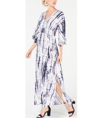 inc kimono-sleeve tie dye maxi dress, created for macy's