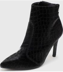 botín negro vizzano
