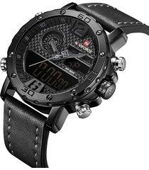 reloj hombre naviforce digital y análogo militar de aviador