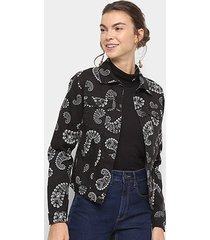 jaqueta sarja lez a lez estampada feminina