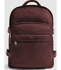 reiss harrison - small nylon backpack in bordeaux, mens