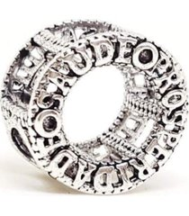 berloque  lua pratas mandala prosperidade prata