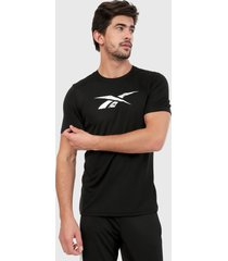 camiseta negro-blanco reebok workout ready