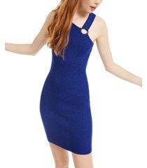 almost famous juniors' asymmetrical bodycon dress
