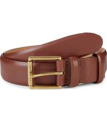 cole haan men's leather square-buckle belt - british tan - size 42