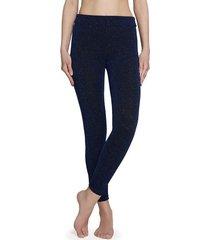 calzedonia glitter comfort leggings woman blue size m