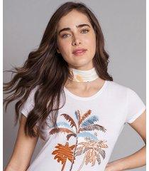 blusa estampada com faixa long beach - lez a lez