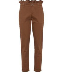 pantaloni in twill (marrone) - bodyflirt