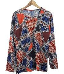 sweater lanilla azul mecano susan plus size