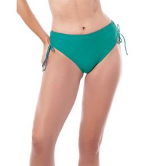 bikini calzón cadera ajustable verde samia