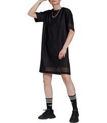women's adidas originals primegreen t-shirt dress, size x-large - black