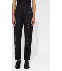 proenza schouler lightweight wool belted straight pant black 0