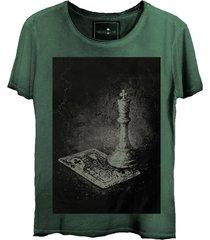 camiseta skull lab caveira king verde - kanui
