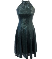 taylor sequin fit & flare dress