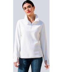 fleece trui alba moda offwhite