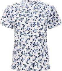 blusa flores azules color azul, talla 6