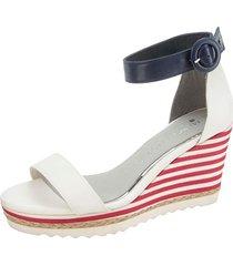 sandaletter marco tozzi vit::marinblå::röd