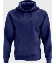 męska bluza z kapturem melanżowa (gładka, niebieska)