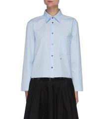 'ursula bagio' cotton poplin crop shirt