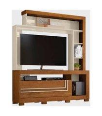 estante nice p/ tv até 60 polegadas nature/off white belaflex móveis
