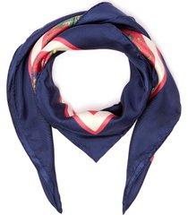 floral print silk twill scarf