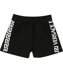 young versace black shorts