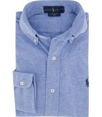 ralph lauren overhemd jersey katoen blauw