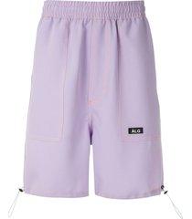 àlg contrast-stitching bermuda shorts - purple