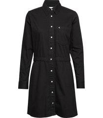 long sleeve desert dress jurk knielengte zwart calvin klein jeans