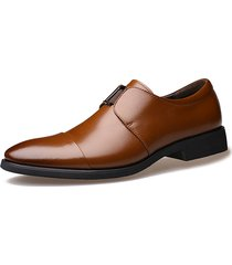 uomo scarpe formali classici da business slip-on a punta