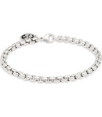 sterling silver round box chain bracelet