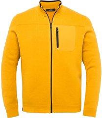 vanguard vest met rits geel regular fit vkc212364/1090