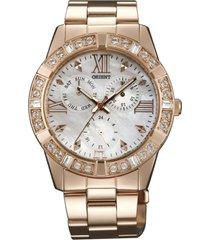 reloj casual oro rosa orient
