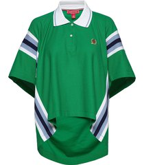 overprinted over t-shirts & tops polos groen hilfiger collection