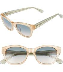 women's kate spade new york jerris 50mm cat eye sunglasses - nude