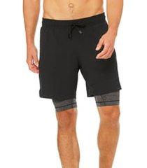 men's alo unity 2-in-1 shorts