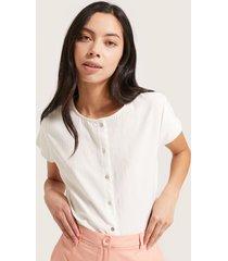 blusa manga corta tela textura-m