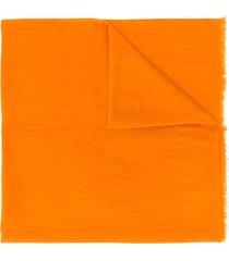 holland & holland fine knit shawl - orange