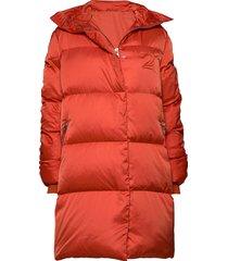 2nd puff gevoerde lange jas rood 2ndday