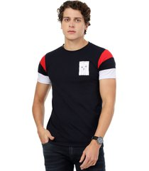 camiseta  combinada en mangas azul navy manpotsherd francia