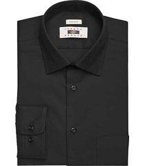 joseph abboud men's black twill modern fit dress shirt - size: 15 32/33