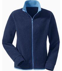 fleece jas, nachtblauw/jeansblauw xl