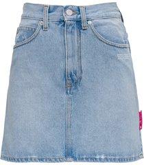 off-white five-pocket denim skirt