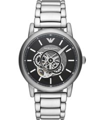 emporio armani men's automatic stainless steel bracelet watch 43mm