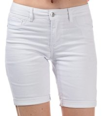 vero moda womens hot seven long shorts size 10 in white
