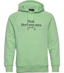 m original hood hoodie trui groen peak performance