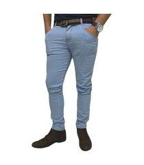calça jeans skynni masculina com elastano azul