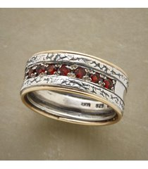 fiery facets ring